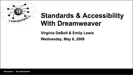 Standards & Accessibility With Dreamweaver